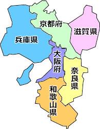 関西の地図